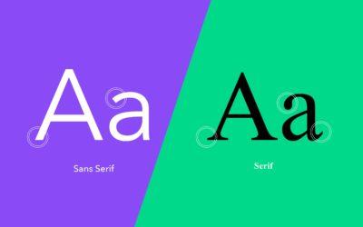 Serif et Sans Serif : Quelle est la différence ?