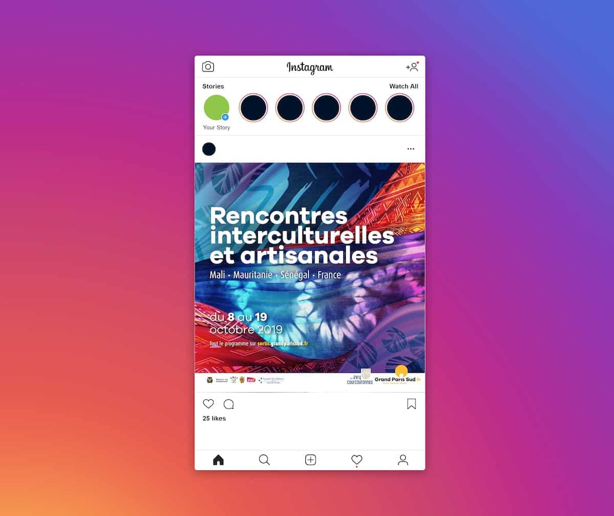 instagram solidarité internationale grand paris sud