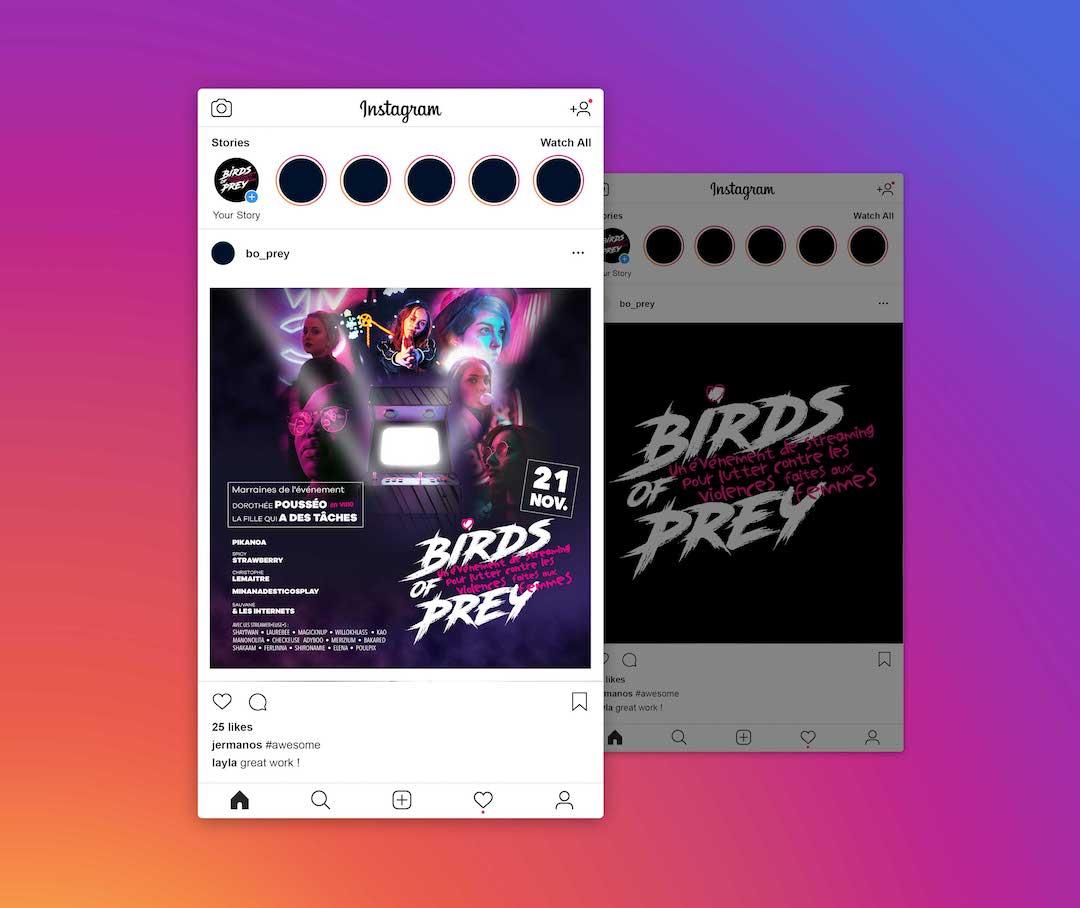 Birds Of Prey Instagram