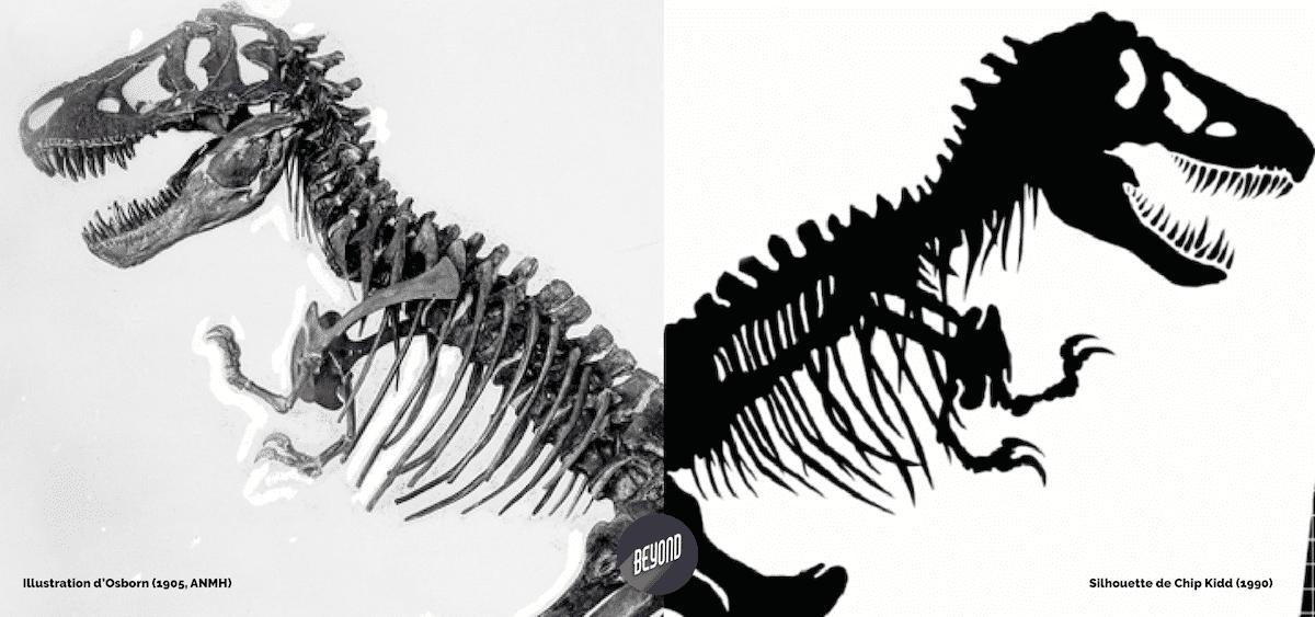 Illustration d'Osborn et Silhouette de Chip Kidd - Jurassic Park