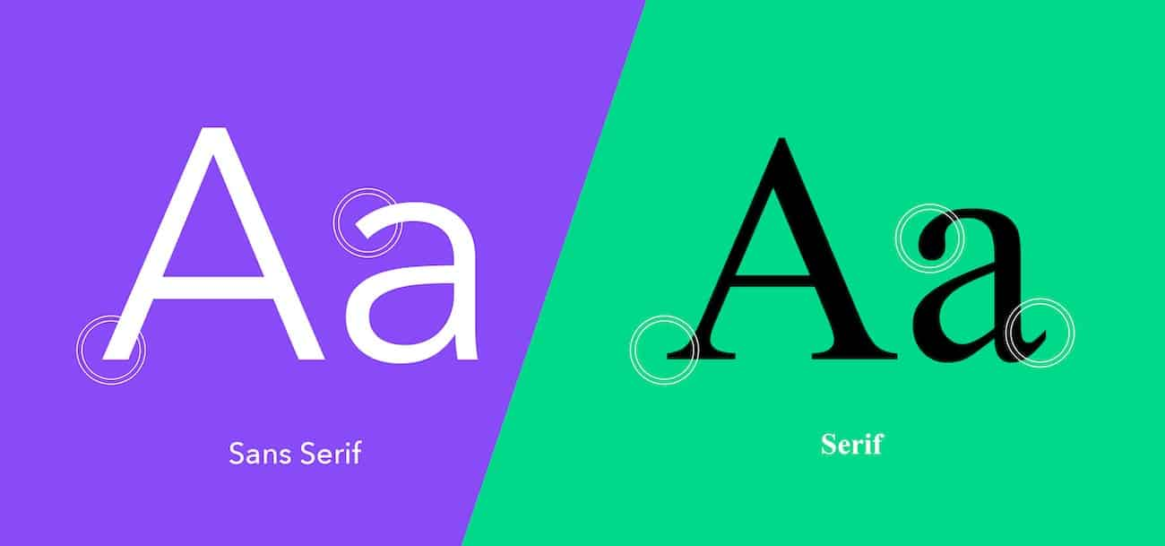 Serif ou Sans Serif Typographie Orléans communication