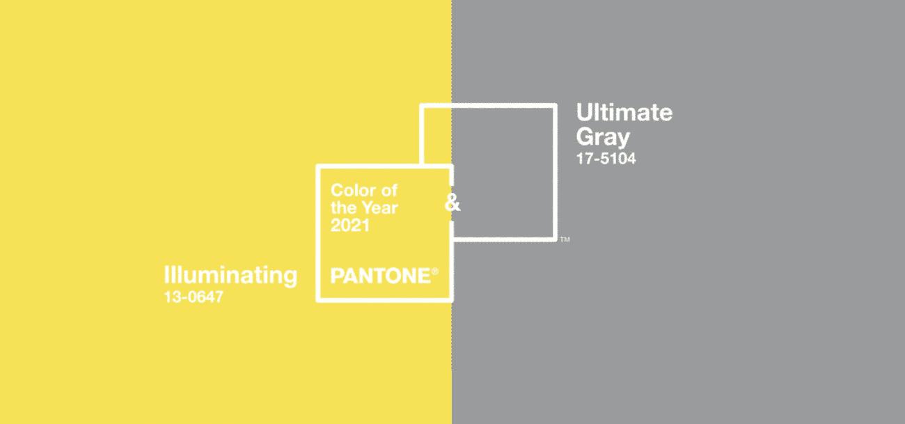 Les couleurs de Pantone 2021 : Illuminating et Ultimate Grey