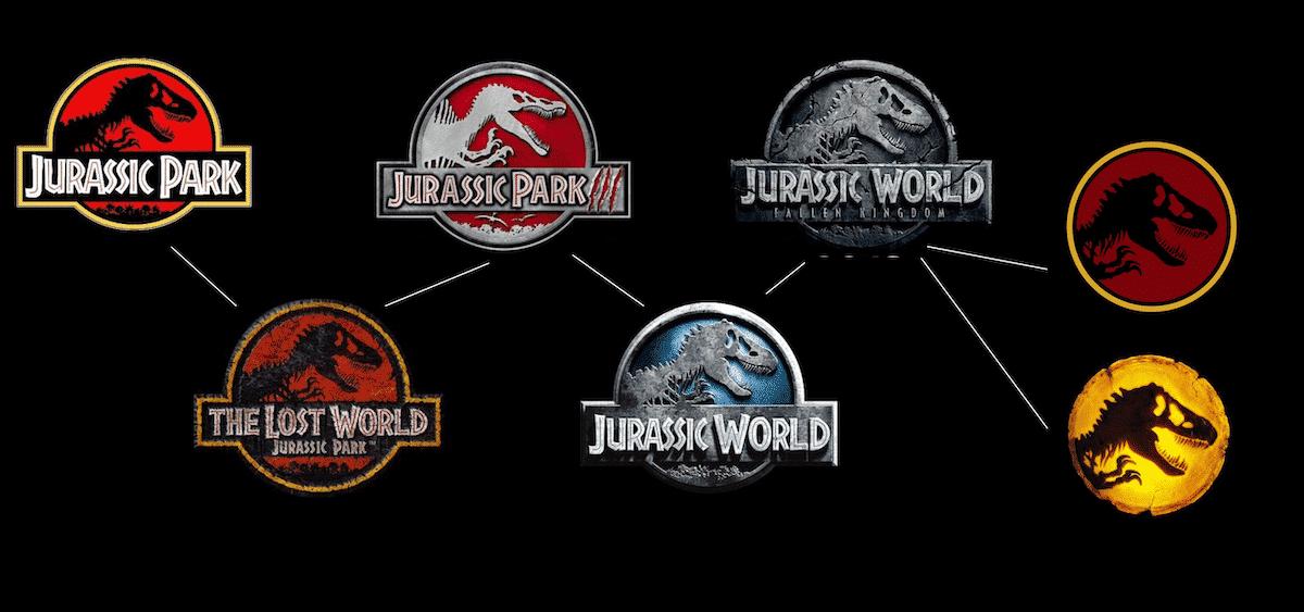 Les logos de Jurassic Park et Jurassic World