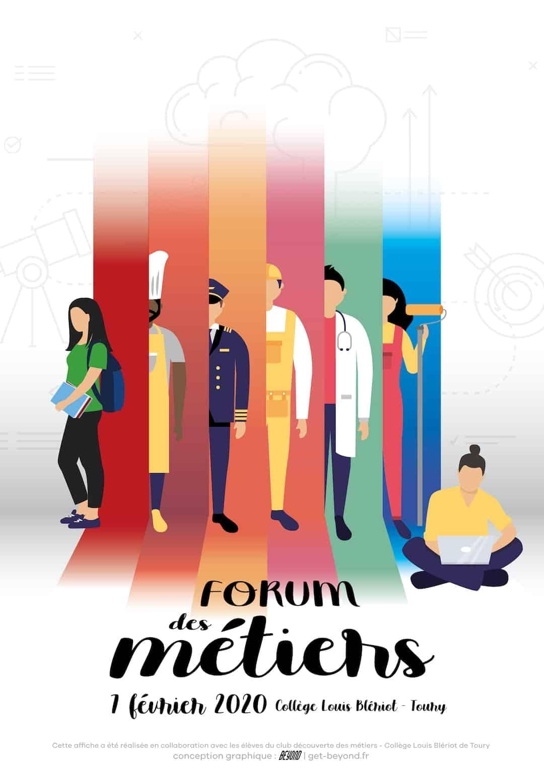 Forum métiers affiche