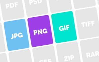 Jpeg, png, gif… Les différences des formats d'image