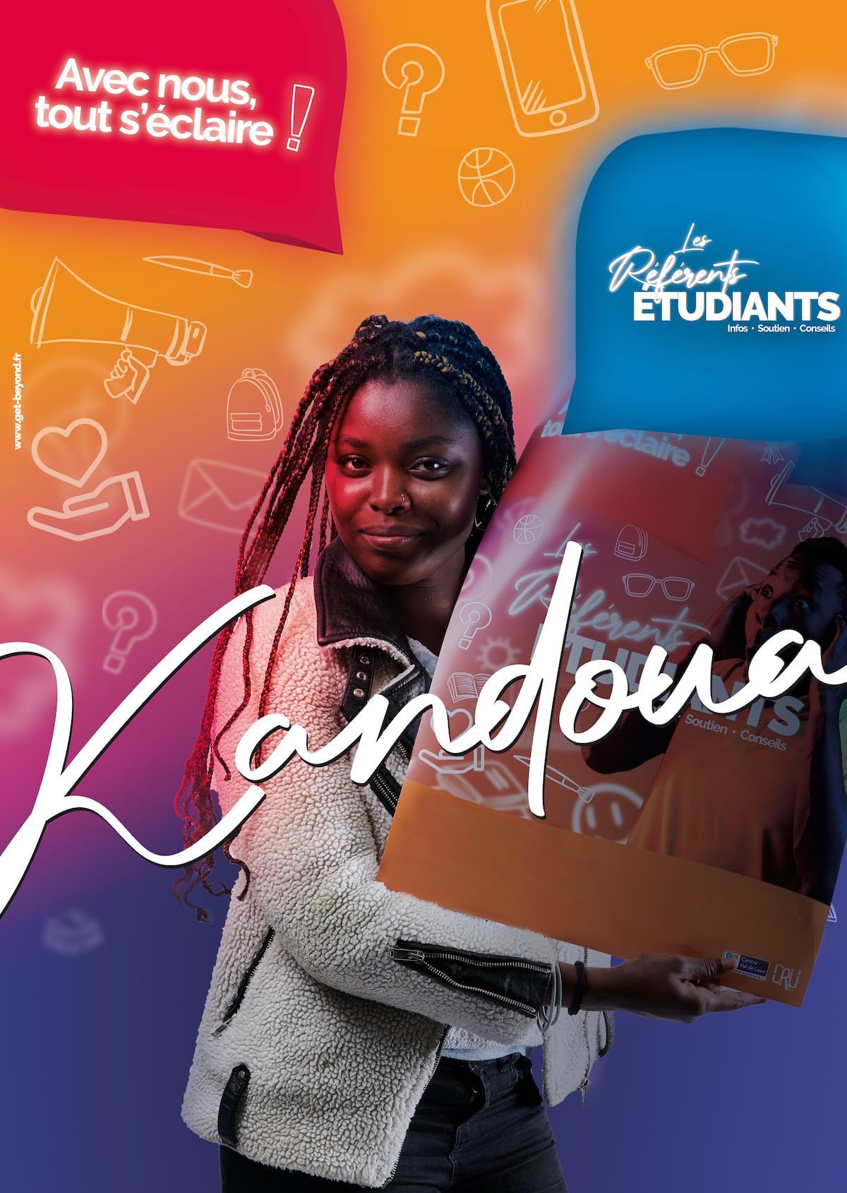Affiche Kandoua - Reférents Etudiants - Bourges